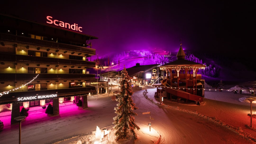 Polar Night Light Festival in Ruka Kuusamo Finland 2020.