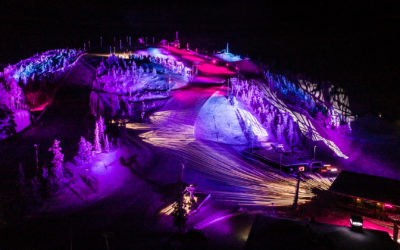 Polar Night Light Festival in Ruka Kuusamo Finland
