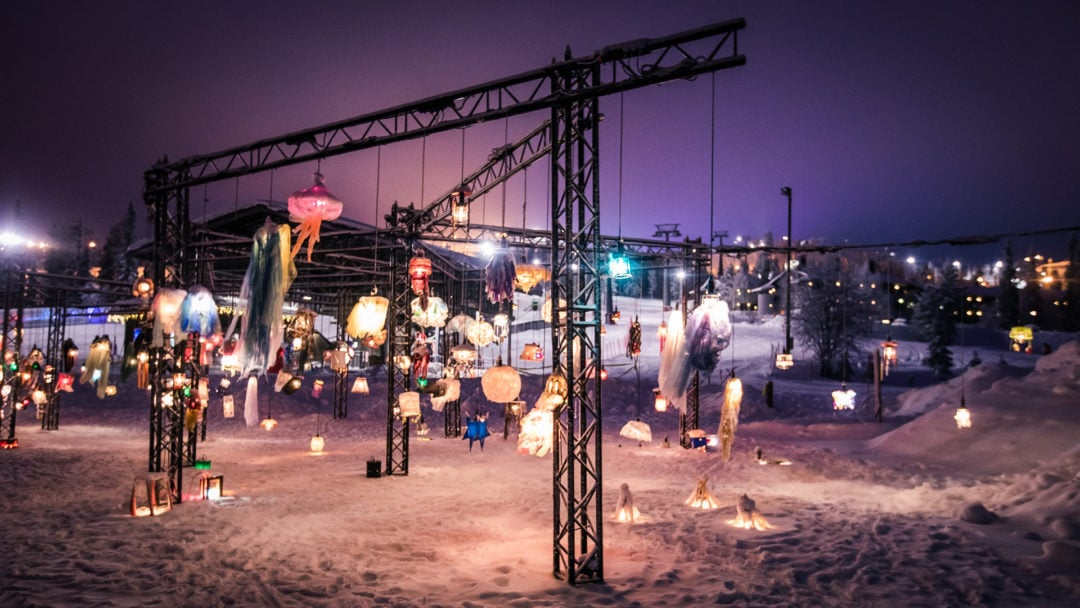 Ruka Polar Night Light Festival 2020. Photo by All About Lapland. The lantern park.
