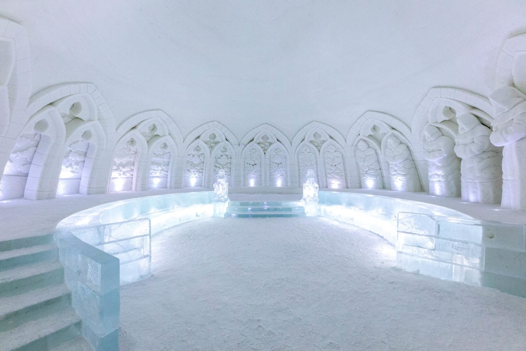 Lainio SnowVillage in Kittilä Lapland Finland. Illusions theme 2020.