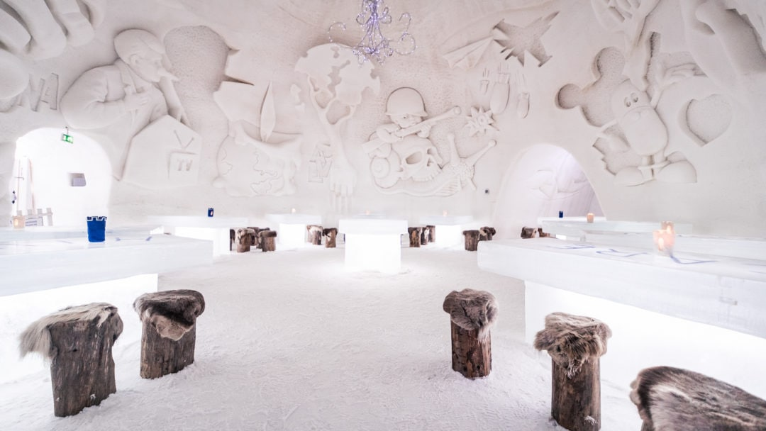 Ice Restaurant at Kemi Snowcastle