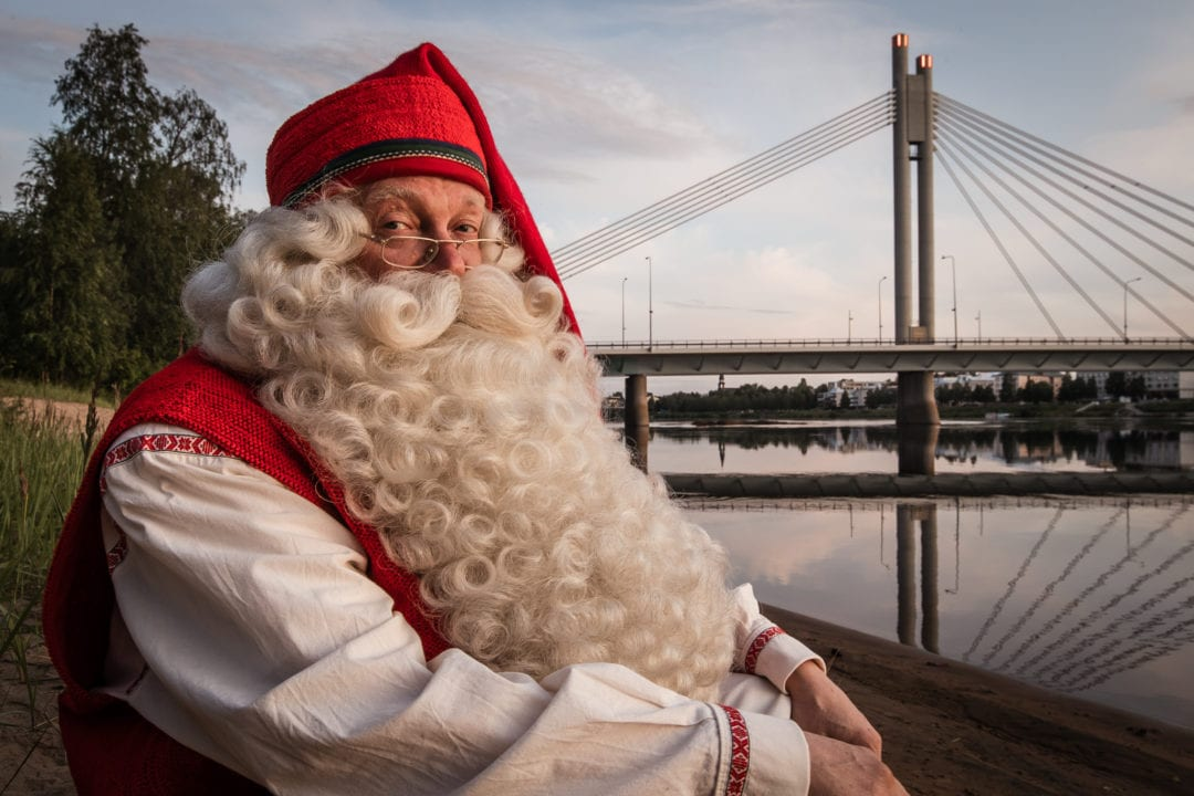 Santa Claus in Summer in Rovaniemi Lapland Finland. Visit Rovaniemi. Photo by Alexander Kuznetsov / All About Lapland.